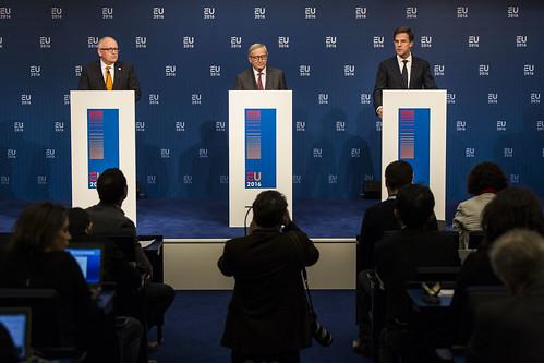 Persconferentie EU commissie / Pressconference EU Commission
