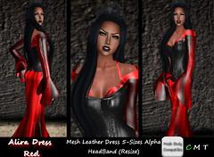 CDAliraDressMeshLeatherRed (*CD* Chanla Design) Tags: leather clothing dress mesh cd gothic kleidung vampir kleid meshbody