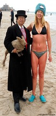 Dr. Takeshi Yamada and Seara (Coney Island Sea Rabbit) at the winter swimming event by the Coney Island Polar Bear Club at the Coney Island Beach in Brooklyn, New York on January 17 (Sun), 2015.  mermaid.  20160117Sun DSCN3454=0015pC1. Adrienne Adams (searabbits23) Tags: winter ny newyork sexy celebrity art beach fashion animal brooklyn asian coneyisland japanese star yahoo costume tv google king artist dragon god cosplay manhattan wildlife famous gothic goth performance pop taxidermy cnn tuxedo bikini tophat unitednations playboy entertainer samurai genius donaldtrump mermaid amc mardigras salvadordali billclinton hillaryclinton billgates aol vangogh curiosities bing sideshow jeffkoons globalwarming takashimurakami pablopicasso steampunk damienhirst cryptozoology freakshow barackobama polarbearclub seara immortalized takeshiyamada museumofworldwonders roguetaxidermy searabbit ladygaga climategate