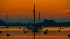 Night Moorings at Sunset (Barry.Turner.Photography) Tags: sunset sea england sky panorama seascape west english history water landscape boats sussex bosham king harbour britain outdoor sony united great nation sigma kingdom harold tags beta edward add barry yachts alpha turner ecclesiastical bayeux saxon chronicle tapestry chichester moorings lightroom the anglosaxon canute confessor 18250 65a godwinson