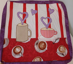 ironcraft- hearts and mugs quilt http://playsculptlive.blogspot.ca/2016/02/ironcraft-in-love.html (playsculptlive) Tags: red hearts quilt cups appliqued ironcraft