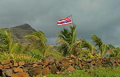 Flying Free (jcc55883) Tags: sky hawaii nikon cloudy oahu flag nikond3200 makapuubeach hawaiianflag d3200