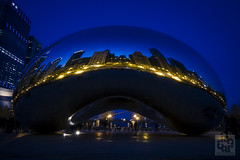 Cloud Gate v2 I Chicago (Julliard Kenneth) Tags: sky chicago landscape illinois lakeshoredrive millenniumpark cloudgate thebean