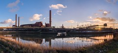 Carsid 05 Panoramic HDR (Blueocean64) Tags: belgium wallonie hainaut charleroi landscape sunset panorama panoramic ptgui ciel sky clouds nuages industry extérieur light outdoor blue orange white winter hdr panasonic g5 explorer 美丽 艺术 摄影 日落 欧洲 旅游 景观 天空 探索 coucherdesoleil beauty blueocean64