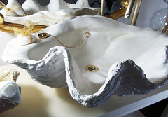 Gold Sink 4 (LittleGems AR) Tags: ocean sea sculpture sun beach home statue stone giant bathroom shower gold aquarium soap sand bath crystals hand contemporary unique decorative shell craft style toilet towel clam basin special clean shampoo taps wash ornament gift present pearl reef spa figures gems opulent gem fossils oneoff clamshell mollusks cloakroom bespoke personalised tridacna sculpt crafted gigas facetowel