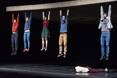 Jean-Baptiste Andre, Elise Legros,  Marie Fonte, Julien Cramillet,  Francesca Ziviani, Mathieu Bleton (DanceTabs) Tags: uk men london climb women circus stage performing arts barbican entertainment gravity acrobatics acrobat balance staged performers performer acrobatic contemporarydance hewhofalls yoannbourgeois dancetabs mariefonte eliselegros londoninternationalmimefestival2016 contemporaryvisualtheatre limf2016 compagnieyoannbourgeois costumesginette francescaziviani jeanbaptisteandre juliencramillet lightingadelegrepinet mathieubleton bodieslean hangandfall