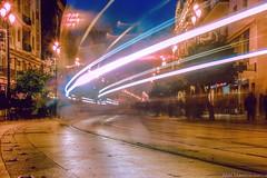 Moviendome por Sevilla (abel.maestro) Tags: longexposure espaa navidad luces sevilla maestro garcia abel fantasma exposicion larga tranvia vias cuidad
