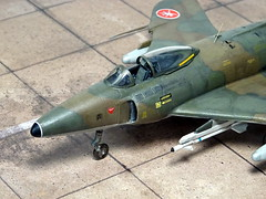 1:72 Supermarine Swift FR.51, aircraft '902/2 Red' of 6th Squadron, Sultan of Muscat and Oman's Air Force, 1967 (Whif/Xtrakit conversion) (dizzyfugu) Tags: cold green ex dark war force conversion earth aviation air arab rebellion swift sultan oman muscat raf 172 sidewinder fictional whatif modellbau 902 supermarine dhofar aim9 whif mk51 dizzyfugu xtrakit
