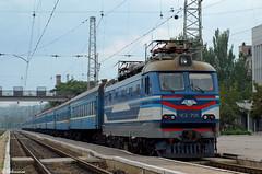 UZ ChS2-706 (Nr. 622 Mariupol - Kharkiv), Mariupol, 2010/07/09. (lg-trains) Tags: trains ukraine ukrainian railways trainspotting uz     2