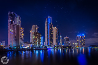 Southern Cross Above the Cityscape of Surfers Paradise