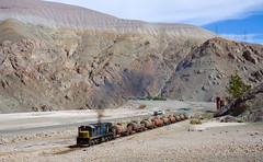 Still working on it. (david_gubler) Tags: chile train railway llanta potrerillos ferronor