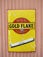 Old SIgn Wills's Gold Flake cigarettes IMG_6012 (rowchester) Tags: old gold cigarette flake wills tobacco