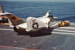 VF-141 F4D-1 Skyray BuNo 134795 (skyhawkpc) Tags: aircraft aviation navy 1957 douglas naval usnavy usn skyray ussbonhommerichard cva31 134795 f4d1 vf141ironangels nf206