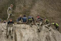 slide (stevefge) Tags: girls people netherlands mud nederland viking endurance berendonck nederlandvandaag reflectyourworld strongviking