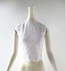 1950s white floral embroidered eyelet lace blouse, from Macshore Classics (Small Earth Vintage) Tags: white floral blouse cotton 1950s 50s embroidered vintageclothing vintagefashion eyeletlace smallearthvintage