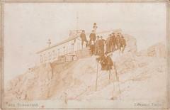 Mnchner Haus, Zugspitze by Jos. Sonnweber (1897-1899) (pellethepoet) Tags: germany deutschland tirol europe photograph ehrwald tyrol zugspitze cabinetcard austrianalps mountainclimbers mnchnerhaus jossonnweber josefsonnweber