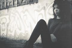 Emotion #20 (rhendi.rukmana) Tags: she life portrait blackandwhite nature girl monochrome contrast canon thought sad smoke portraiture gloom minimalism bnw makeportrait createexploretakeover
