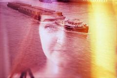 film swap (La fille renne) Tags: portrait film water analog 35mm boat xpro lomography doubleexposure portait lomolca multipleexposure lightleak swap crossprocessing fujifilm mx 50mmf18 zenite fujichromevelvia100 filmswap fotobes lafillerenne spookyvalentine