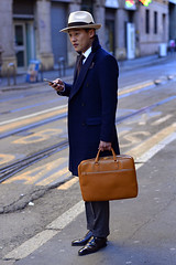 Outside Milan Fashion Weeks (BrianGeorgeM) Tags: show street italy milan fashion photography nikon milano moda 85mm style week nikkor f18 stylish reportage d610 afd settimanadellamoda