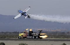 Shockwave Races the Plane (dcnelson1898) Tags: airshow planes lancaster warbirds losangelescounty 2016losangelescountyairshow