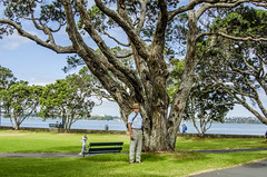 John in his tourist spy garb. (firstfire53) Tags: newzealand devonport