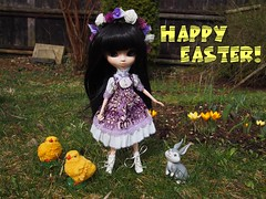 Happy Easter! (sh0pi) Tags: blue bunny fashion easter happy doll bell alice disney fawn lea romantic pullip ostern custom limited hase disneystore puppe tinker frohe calista legende dollyboutique neverbeast nimmerbiest