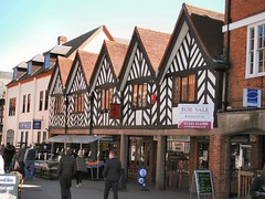 Not old. (or at least, I don't think so) (John McLinden) Tags: street building shop architecture shops staffordshire lichfield timbered
