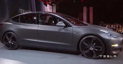 Matte black Tesla Model 3. Sexy af.