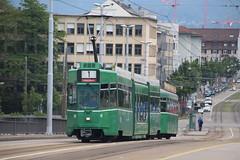 673 (KennyKanal) Tags: tram basel ag grn schindler waggon bvb pratteln basler verkehrsbetriebe schienenfahrzeug drmmli guggumere