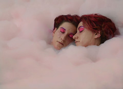 Twins in Love (side a) (Angelo Nairod) Tags: love cloud twins indivisibili nuvola pink pinkcloud angelonairod nairod finephotography sistersinlove pinkmakeup makeup
