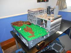 DSCN4195 (legop0ol) Tags: terrain nature water grass starwars lego hangar huge vehicle cave custom base tiefighter