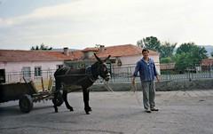 Villager with donkey, Polyanovo, Bulgaria (ali eminov) Tags: houses people animals architecture buildings donkeys bulgaria bulgaristan polyanovo markomale