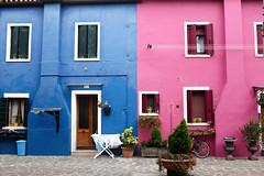 Burano : Bleu et Rose (http://visiteursdumonde.com) Tags: venice venise venezia burano