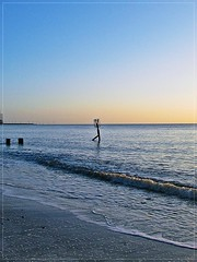 A Promising Start To The Day ! (mr_snipsnap) Tags: morning beach silhouette sunrise dawn sand norfolk groyne gorleston