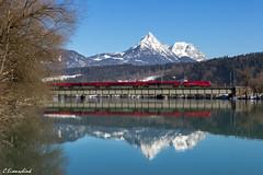 Railjet in Langkampfen (TheKnaeggebrot) Tags: inn siemens berge brücke taurus öbb 1116 innbrücke langkampfen railjet