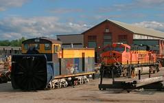 For the first time in forever... (Jeff Carlson_82) Tags: railroad santafe train ks railway mow shops kansas topeka ge railfan bnsf rotary derailed snowplow derail atsf 6216 topekashops 199361