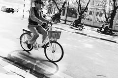 The Vietnamese Style of Transportation #4 (desomnis) Tags: street travel light shadow urban blackandwhite bw man monochrome bike bicycle blackwhite asia southeastasia streetphotography streetlife vietnam transportation traveling hanoi lightandshadow streetshot travelphotography streetcandid northvietnam sigma35mm canon6d desomnis