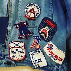 Instagram @paradoxdesignsnyc April 19 2016 at 10:02PM (paradoxdesignsnyc) Tags: our way found one other 1930s with collection killer jaws his 1970s patches 1976 1776 onto spiritof76 vintagepatches patchworkdenim instagram ifttt frenchworkjacket frenchworkwear