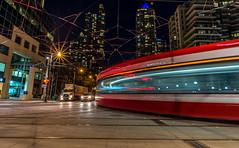 A Streetcar Named Spadina (John G Briggs) Tags: city urban toronto motion blur night lights spadina streetcar