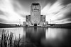 30 second classic shot (loddeur) Tags: longexposure blackandwhite bw monument architecture clouds contrast canon concrete wide smooth nederland symmetry filter le nd drama veluwe kootwijkerzand radiokootwijk groothoek weldingglass langesluitertijd 1018stm