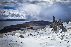 The Old man of Storr (Pikebubbles) Tags: snow mountains skye landscape scotland spring innerhebrides climbing april hebrides snowscape oldmanofstorr davidgilliver davidgilliverphotography