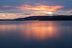 Illuminate (Kristine Bergheim) Tags: longexposure blue sunset solnedgang drammen drammensfjorden engersand