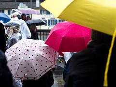 Gradient of Randomness (pxlline) Tags: street rain umbrella switzerland candid streetphotography points zrich ch sechseluten candidrainphotography