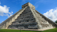 Mexico - Chichn Itz; The Kukulcn Pyramid; known as El Castillo (the castle); exactly 24 m high (Traveller-Reini) Tags: park travel sculpture sun building latinamerica architecture america landscape geotagged mexico maya outdoor yucatan bluesky chichenitza ruine architektur historical geology amerika landschaft pyramide gebude centralamerica reise kukulcan geschichte elcastillo middleamerica unescoheritage mybestphotos worldcultureheritage weltwunder bestplace onlythebest new7wonders ancientplace flickrbestpics placeilike spitzenfotos astronomicalsite