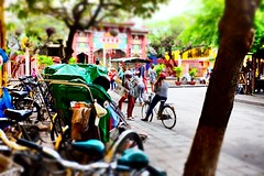 On a lookout. (Melvin Yue) Tags: street city travel people colors 35mm asia vietnamese cityscape colours streetphotography wanderlust traveller vietnam hoian explore fujifilm lonelyplanet rickshaw rider trishaw photooftheday picoftheday natgeo travelphotography travelgram x100s