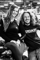Manchester Bike Show 2016 - Benjamin Heaton & partner Chloe (Sacha Alleyne) Tags: show blackandwhite honda sony motorbike moto motorcycle ducati rider racer 2016 eventcity a6300 manchesterbikeshow