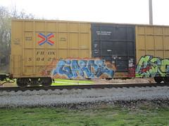Garde (Swish 1998) Tags: ohio graffiti ra freight nsf