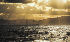 Turning the wind (Ivan Ant) Tags: sunset sea tower atardecer mar torre power wind bizkaia energia eolica eolicos viwnto