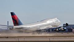 Dust Off (Skeeter Photo) Tags: aviation msp boeing takeoff 747 jumbojet 747400 runway22 kmsp b744 minneapolisstpaulinternationalairport avgeek n662us 747451 queenoftheskies runway422 mspnrt skeeterphoto dal275 kmsprjaa