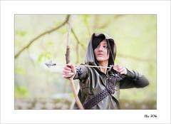 Elfia 2016 (Zino2009 (bob van den berg)) Tags: wood woman holland female forest shot fantasy bow hood strong arrow archer dressed gatekeeper protect roleplay haarzuilen bobvandenberg elfia zino2009